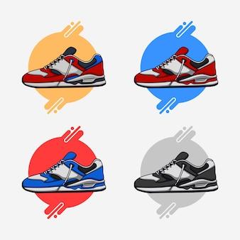 Красочные кроссовки