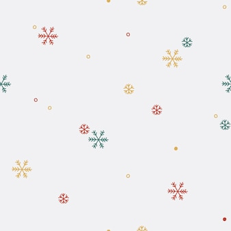 Colorful snowflake seamless pattern