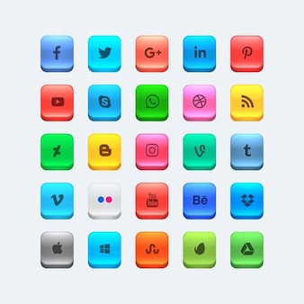 Colorful social media icons