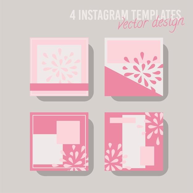 店舗やファッション向けのカラフルなソーシャルメディア投稿テンプレート。ミニマルな幾何学的概念。