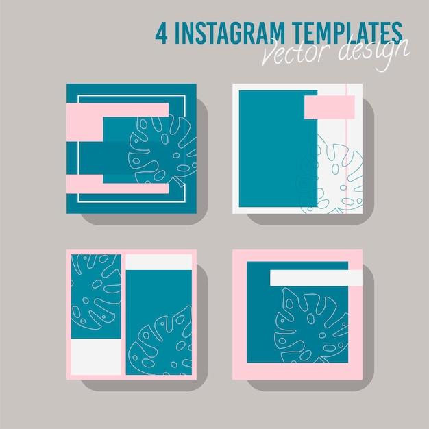 상점과 패션을 위한 다채로운 소셜 미디어 포스트 템플릿. 최소한의 기하학적 개념입니다.