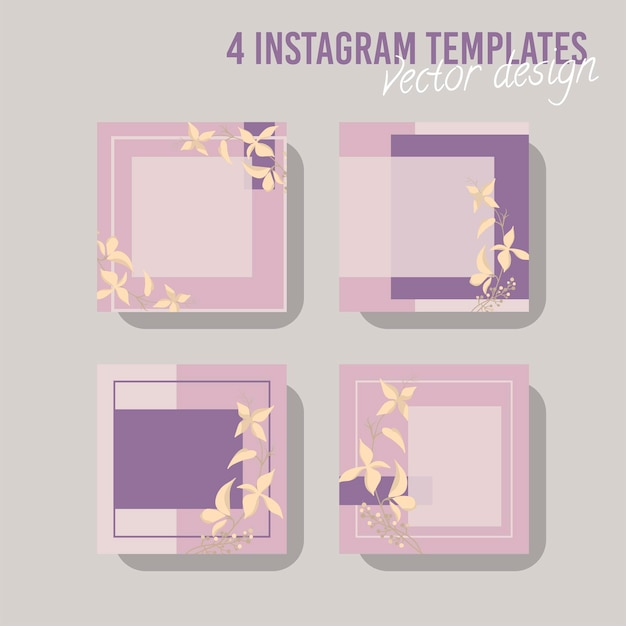 Красочный шаблон сообщения в социальных сетях для магазина и моды. минималистичная геометрическая концепция.