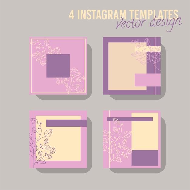 Modello di post di social media colorato, per negozio e moda. concetto geometrico minimalista.