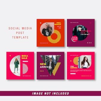 Colorful social media post