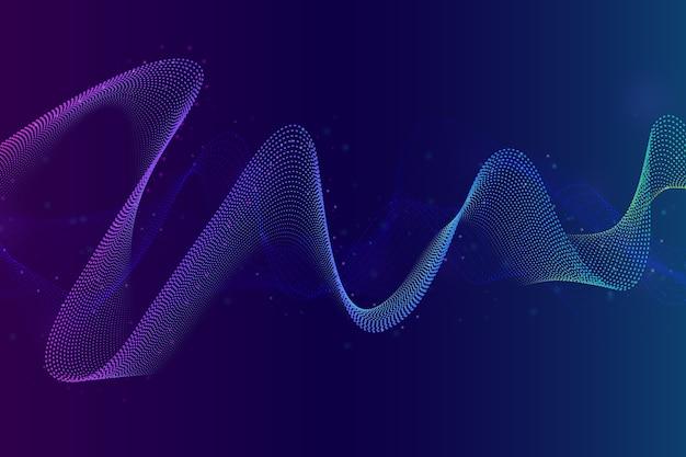 Красочный фон звуковой волны