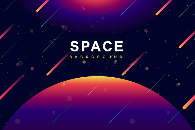 Colorful space and galaxy  background