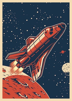 Colorful space poster