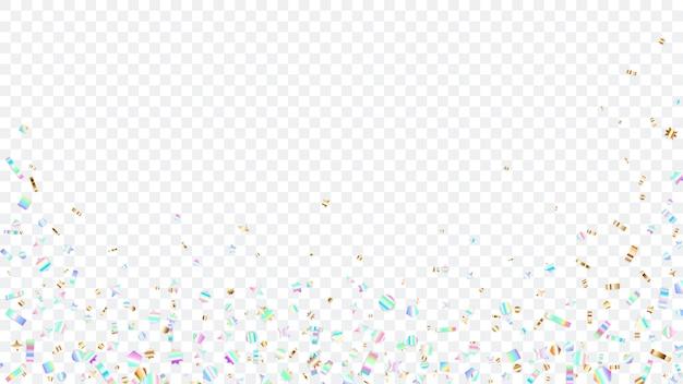 透明な背景にカラフルな輝きの底面と側面