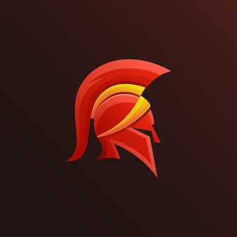 Colorful spartan logo design
