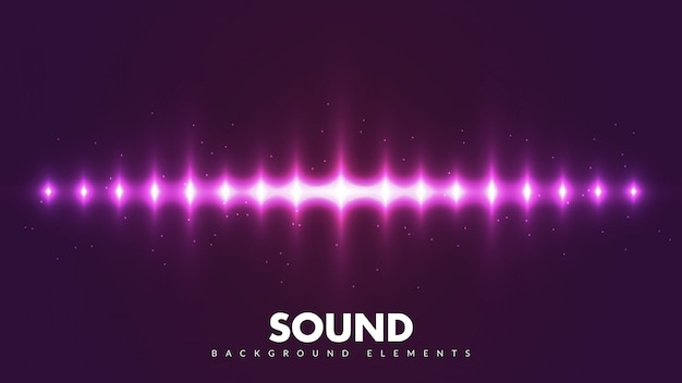 Colorful spectrum sounds. cool sound frequency with light rays.