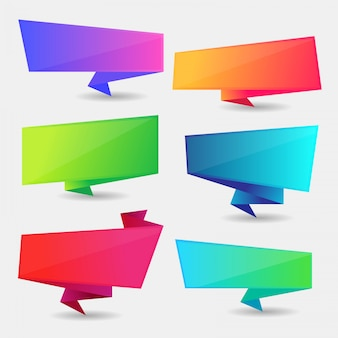 Colorful speech bubble set, text box set