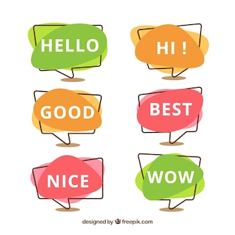 Colorful speech bubbles collection