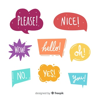 Colorful speech bubbles for dialog