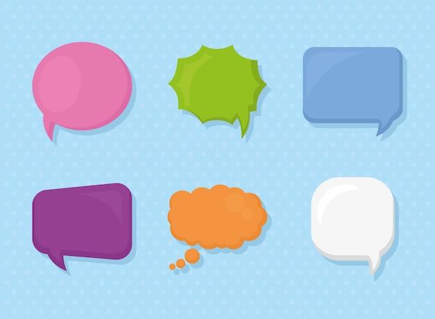 Красочные пузыри речи