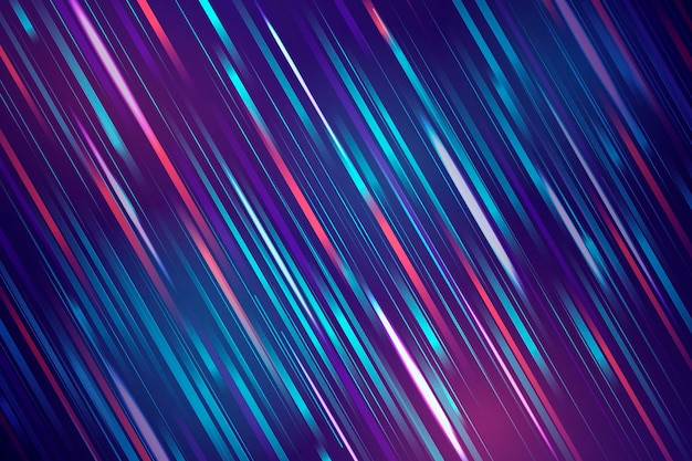 Colorful speedy streams of light