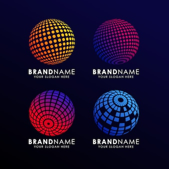 Colorful sphere logo template