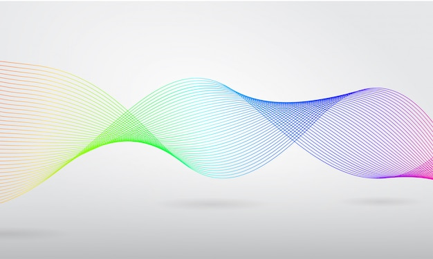 Colorful spiral wave on white background