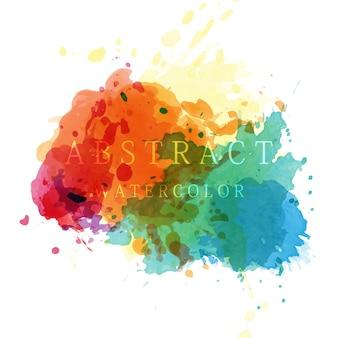 カラフルなスプラッシュ染色水彩背景