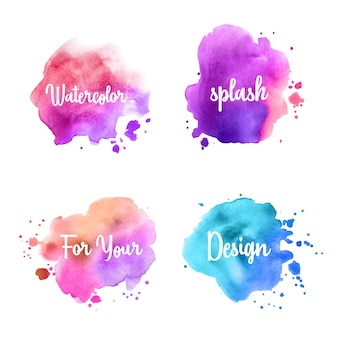 Colorful Splash Watercolor set