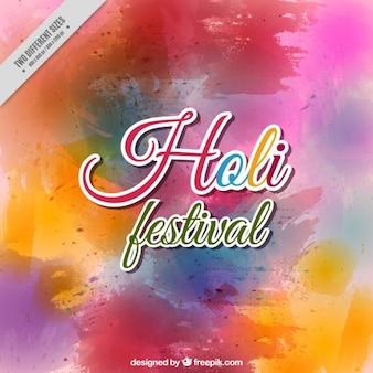 Colorful splashes holi background