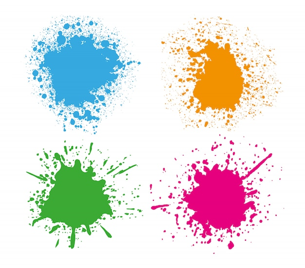 Colorful splashes set