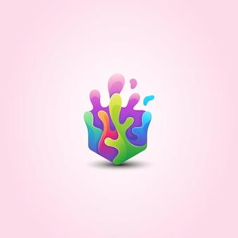 Красочный логотип splat