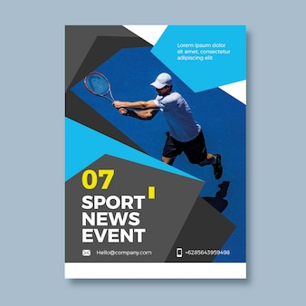 Colorful sport flyer template