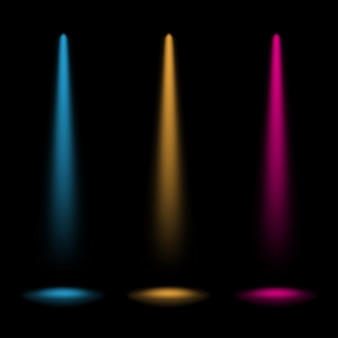 Colorful spotlights