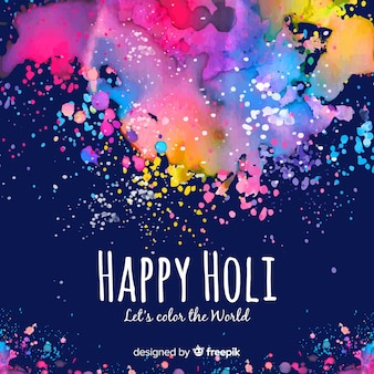 Colorful spots holi festival background