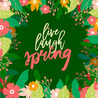 Красочный весенний фон