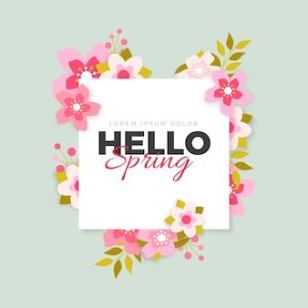 Colorful spring floral frame