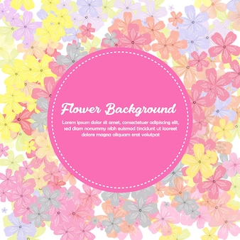 Colorful spring flower background