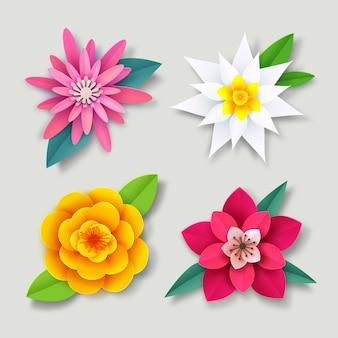 화려한 봄 꽃 모음