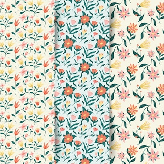 Colorful spring pattern collection