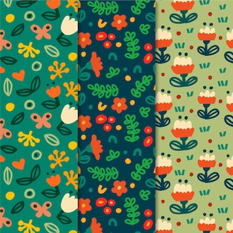 Colorful spring patterns collection