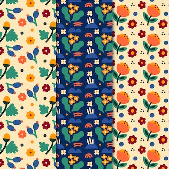 Colorful spring patterns set