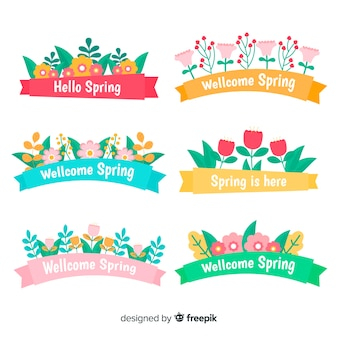 Colorful spring ribbon pack