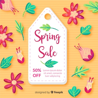 Colorful spring sale background