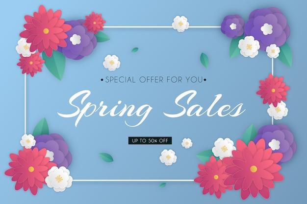 종이 스타일의 화려한 봄 판매