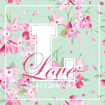 Colorful spring and summer flowers graphic design for t-shirt, fashion, floral prints