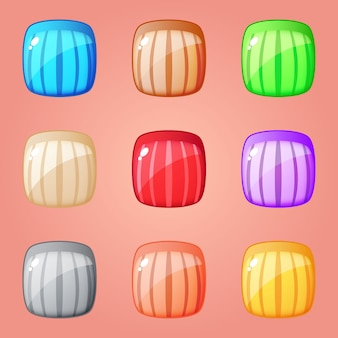 Colorful square block puzzle for match 3 games
