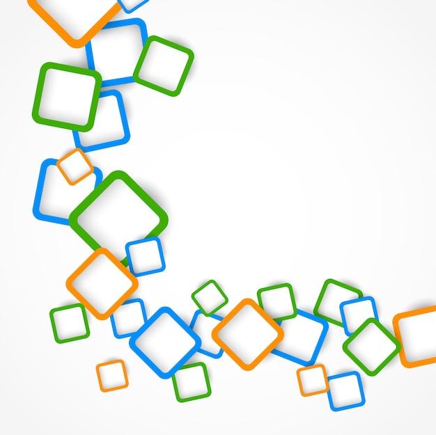 다채로운 사각형. 추상적 인 배경, 그림