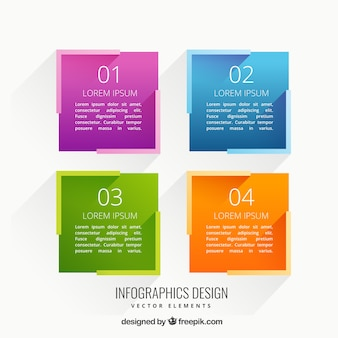 Colorful squares infographic