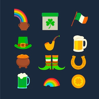 Colorful st. patrick's day element collection