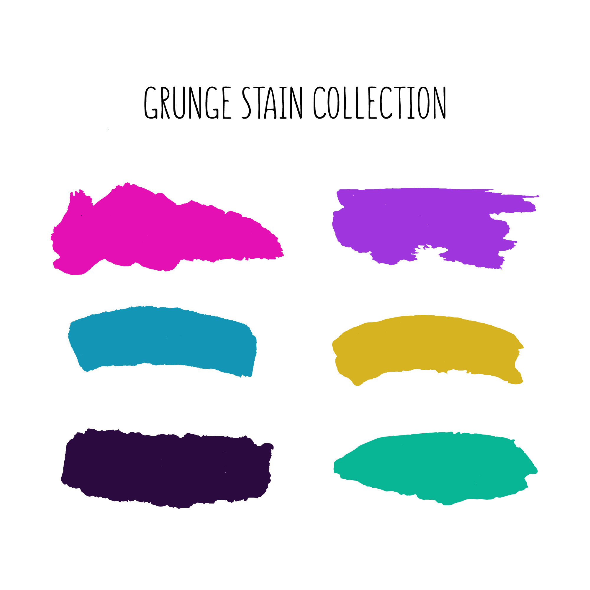 Colorful stain collection