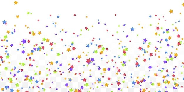 Colorful star confetti banner background