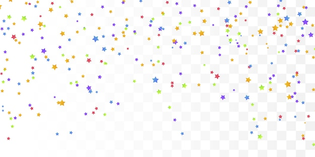 はがき、誕生日のカラフルな星紙吹雪。