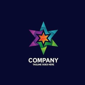 Красочный дизайн логотипа звезды
