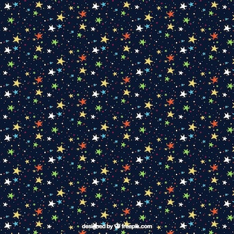 Colorful starry pattern Free Vector