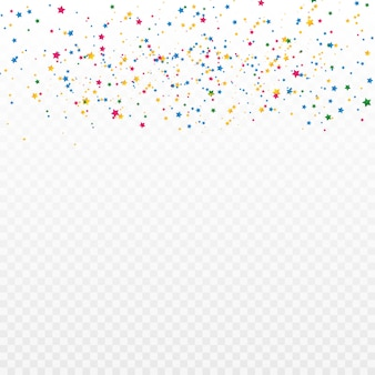 Colorful stars confetti. celebration and party
